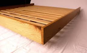 White Oak Furniture Floating White Oak Platform Bed Frame