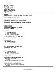 Career Focus Examples For Resume Astounding Ideas Printable Resume Template 12 Free Printable