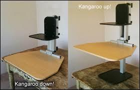 Standing Desk For Cubicle Ergodesktop U0027s Kangeroo An Adjustable Stand Up Desk