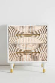 brewton white wood 2 drawer nightstand
