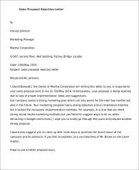 Decline Letter To Bid Rejection Letters 7 Free Sle Exle Format
