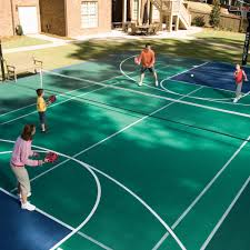 Backyard Basketball Courts And Home Gyms Sport Court - Home basketball court design