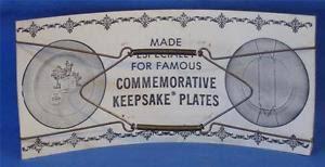keepsake plates vintage commemorative keepsake plates hanger 8 x 10 nos
