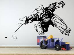 sport en chambre x hockey gardien de gardien de but de décalque mur vinyle