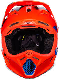 fox clothing brooklyn fox v3 creo kids mx helmet motocross orange