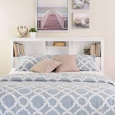 Bed Bookcase Headboard Full Queen Bookcase Headboard Walmart Com