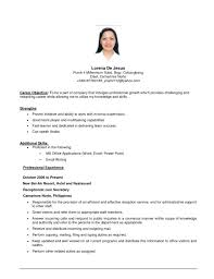 resume template for job change exles of objectives on resumes lovely objective it resume 9