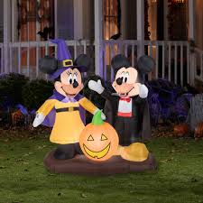halloween inflatable gemmy airblown inflatable 4 5 u0027 x 4 5 u0027 mickey mouse and minnie