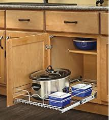 amazon com spice rack in cabinet pull out 3 shelves 5 5