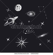 vector illustration universe galaxyplanetsstarsconstellation on