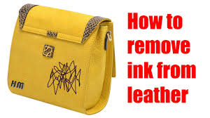ink off leather couch how to remove ink from leather youtube