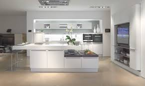 Poggenpohl Kitchen Cabinets Contemporary Kitchen Wood Veneer Island Lacquered Hide And