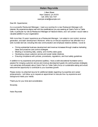 Cover Resume Letter Examples by Best Restaurant Manager Cover Letter Examples Livecareer Create