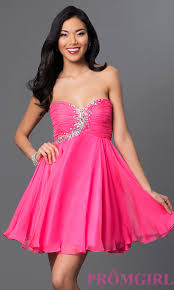 dress pink rhinestone embellished pink party dress promgirl