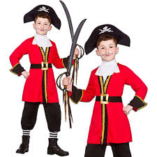 Captain Hook Halloween Costume Boys Kids Childs Captain Hook Book Week Fancy Dress Pirate Costume