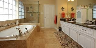 comfortable travertine tile for bathroom floor with interior home