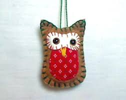 mini owl ornament etsy