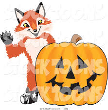 halloween pumpkin cartoons stock cartoon of a cute fox mascot cartoon character with a