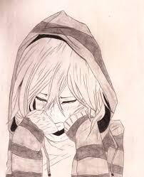 drawn manga sad drawing pencil and in color drawn manga sad drawing