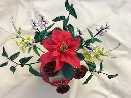 flowers for a cake for my mother in law poinsettia was done using