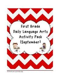 1st grade language arts worksheet pack march common core