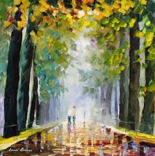 Best Paint Best Friends Walking U2014 Palette Knife Oil Painting On Canvas By