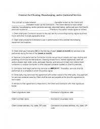 Cleaner Resume Template Housekeeper Contract Template Salon Manager Description
