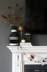 last minute decorating simple halloween mantel this is our bliss