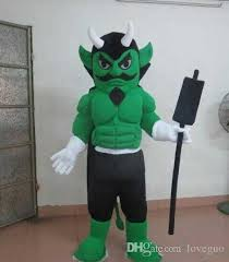 Halloween Mascot Costumes Cheap Oisk Green Muscle Devil Mascot Costume Animal Suit Halloween
