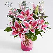 pink lilies lilies flower arrangements from 29 99 proflowers
