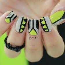 black white tribal patterns stylish nails and aztec nails
