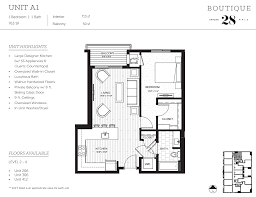 one bed floor plans boutique 28