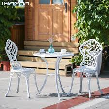 patio furniture white patio table andhairsc2a0 metalhairs