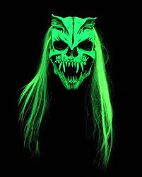 goat head halloween mask zagone studios nuclear option uv reactive green glow halloween