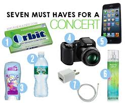 7 things you must bring with you to a concert utterly amazing