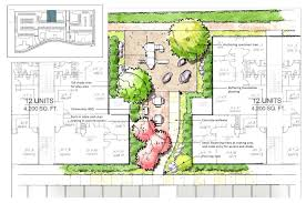 Modern Apartment Plans by Contemporary Apartment Landscape Design N Intended Ideas