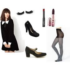 Black White Striped Halloween Costume Merlina Costume Halloween Coming Polyvore