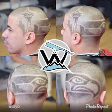 seattle barbers that do seahawk haircuts haircut seattle seahawks game day pinterest haircuts