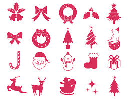 christmas elements vector collection free vector site download