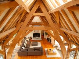 18 a frame house cost lamper head exposed beams and barn