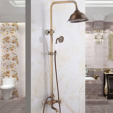 rainfall massage system brass finish bathroom rainshower set