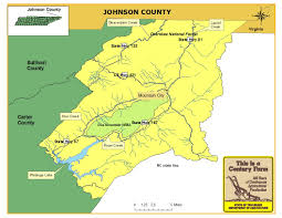 Tennessee City Map by Johnson County Tennessee Century Farms