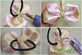 how to make hair bow how to make a simple hair bow out of bicolored ribbons pandahall