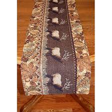 Leaf Table Runner Elk And Oak Leaf Placemats U0026 Table Runners Cabin Place
