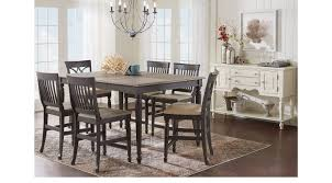Rooms To Go Dining Room Furniture Ocean Grove Gray 5 Pc Counter Height Dining Room Traditional