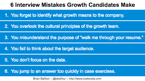 Walk Me Through Your Resume Example by 6 Mistakes Growth Candidates Make In The Interview Process U2014 Brian