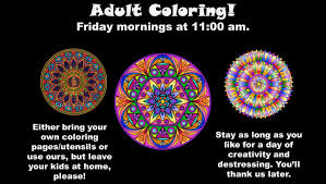 coloring now on friday mornings auburn public library