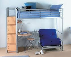 Loft Bed With Futon Underneath Instructive Bunk Bed With Futon And Desk Beds Design White
