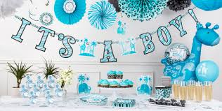 themed baby shower blue safari baby shower party supplies party city