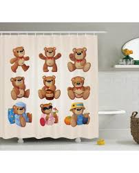 Teddy Shower Curtain Shower Curtain Teddy Decor Print For Bathroom